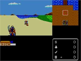 In game image of Miracle Warriors: Seal of the Dark Lord on the Sega Master System.