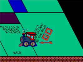 In game image of Monopoly on the Sega Master System.