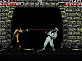 In game image of Mortal Kombat on the Sega Master System.
