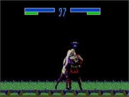In game image of Mortal Kombat 3 on the Sega Master System.