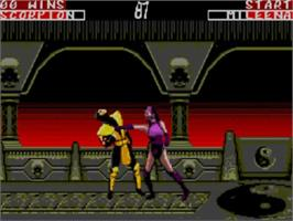 In game image of Mortal Kombat II on the Sega Master System.