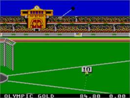 In game image of Olympic Gold: Barcelona '92 on the Sega Master System.