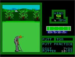 In game image of PGA Tour Golf on the Sega Master System.