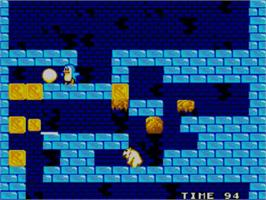 In game image of Penguin Land on the Sega Master System.