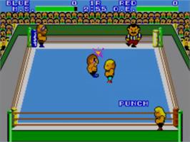 In game image of Pro Wrestling on the Sega Master System.