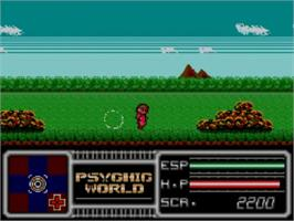 In game image of Psychic World on the Sega Master System.