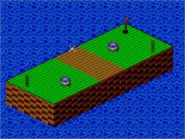 In game image of Putt & Putter on the Sega Master System.