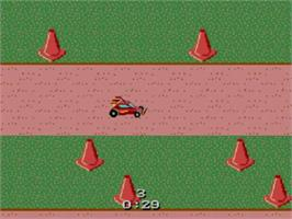 In game image of R.C. Grand Prix on the Sega Master System.