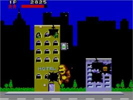 In game image of Rampage on the Sega Master System.