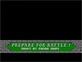 In game image of Rampart on the Sega Master System.