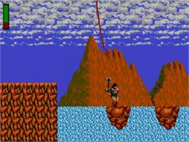 In game image of Rastan on the Sega Master System.