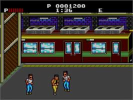 In game image of Renegade on the Sega Master System.