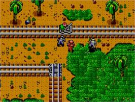 In game image of Rescue Mission on the Sega Master System.