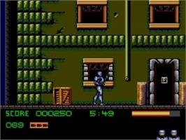In game image of Robocop 3 on the Sega Master System.