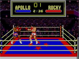 In game image of Rocky on the Sega Master System.