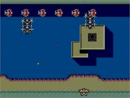 In game image of Scramble Spirits on the Sega Master System.