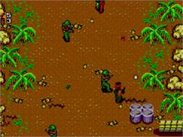 In game image of Secret Commando on the Sega Master System.
