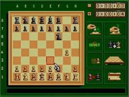 In game image of Sega Chess on the Sega Master System.