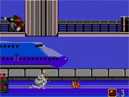 In game image of Shadow Dancer on the Sega Master System.