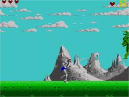 In game image of Shadow of the Beast on the Sega Master System.