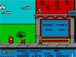 In game image of Simpsons: Bart vs. the Space Mutants on the Sega Master System.