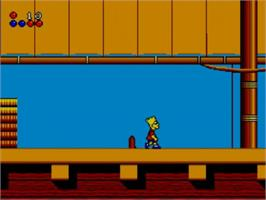 In game image of Simpsons: Bart vs. the World on the Sega Master System.