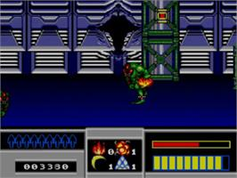 In game image of Space Gun on the Sega Master System.