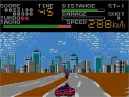 In game image of Special Criminal Investigation on the Sega Master System.
