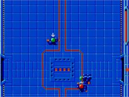 In game image of Speedball on the Sega Master System.