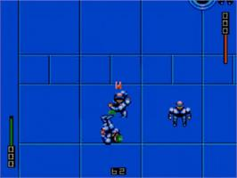 In game image of Speedball 2: Brutal Deluxe on the Sega Master System.