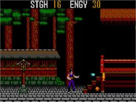 In game image of Spellcaster on the Sega Master System.