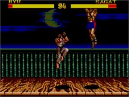 In game image of Street Fighter II' - Champion Edition on the Sega Master System.