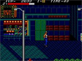 In game image of Streets of Rage on the Sega Master System.