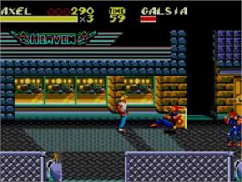 In game image of Streets of Rage 2 on the Sega Master System.