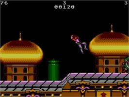 In game image of Strider on the Sega Master System.