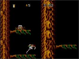 In game image of Strider 2 on the Sega Master System.