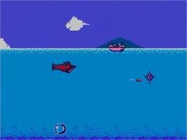 In game image of Submarine Attack on the Sega Master System.