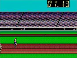 In game image of Summer Games on the Sega Master System.