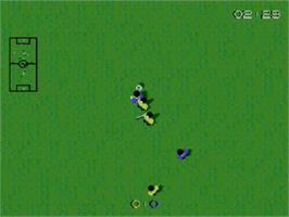 In game image of Super Kick Off on the Sega Master System.
