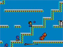 In game image of Teddy Boy on the Sega Master System.