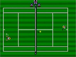 In game image of Tennis Ace on the Sega Master System.