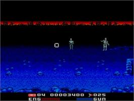 In game image of Terminator 2 - Judgment Day on the Sega Master System.