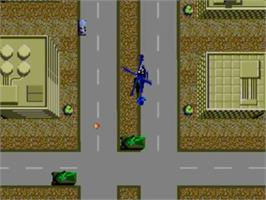 In game image of Thunder Blade on the Sega Master System.