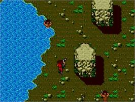 In game image of Time Soldiers on the Sega Master System.