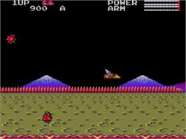 In game image of TransBot on the Sega Master System.