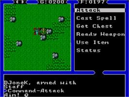 In game image of Ultima IV: Quest of the Avatar on the Sega Master System.