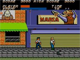 In game image of Vigilante on the Sega Master System.