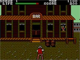 In game image of Wanted on the Sega Master System.