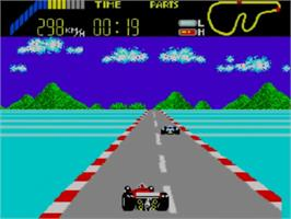 In game image of World Grand Prix on the Sega Master System.