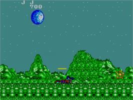 In game image of Zillion on the Sega Master System.